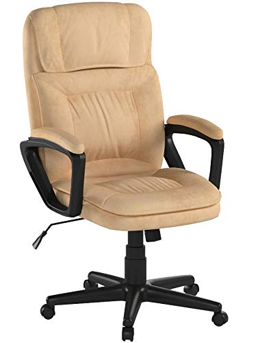 AmazonBasics Classic Office Chair – Adjustable, Swiveling, Microfiber Cover – Light Beige - 7