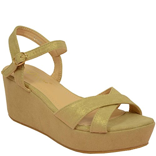 Cucu De Zapatos Mujer Tacón Dorado Fashion rqg5wPExrZ