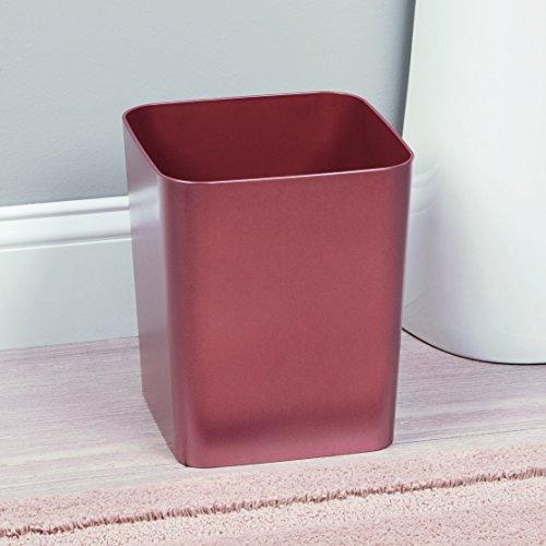 (interDesign Casilla Square Waste Basket Trash Can for Bathroom, Kitchen, Office, Rose Gold)