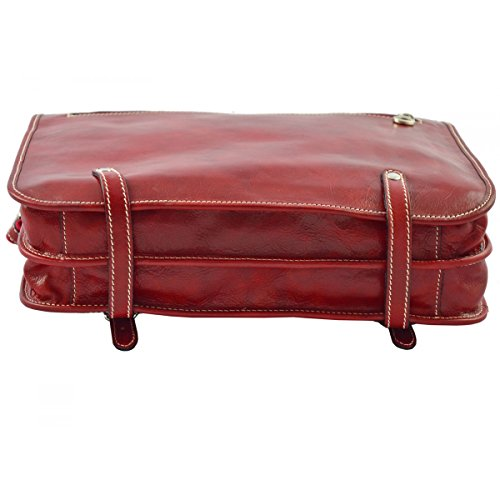 Cartella In Pelle Colore Rosso - Pelletteria Toscana Made In Italy - Business