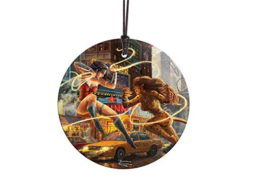 Trend Setters DC Comics - Women of DC - Thomas Kinkade Studios - Starfire Prints Hanging Glass Suncatcher -