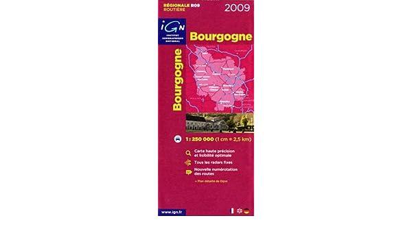 Ign Institut Geographique National Road Map Bourgogne Burgundy
