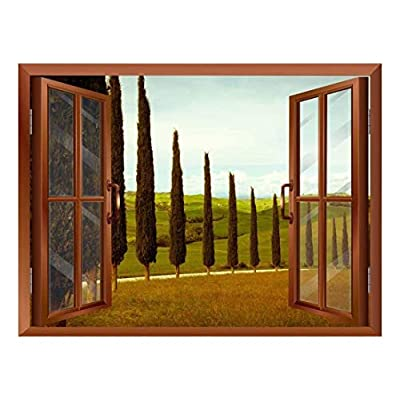 Tuscan Countryside with Cypress and Meadow Removable Wall...