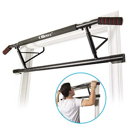Ollieroo Pull Up Bar Doorway Chin Up Strength Training Bars Multi-Grip Trainer Workout for Home Gym Max with Ergonomic Grip Door Frame Chin Up Bar