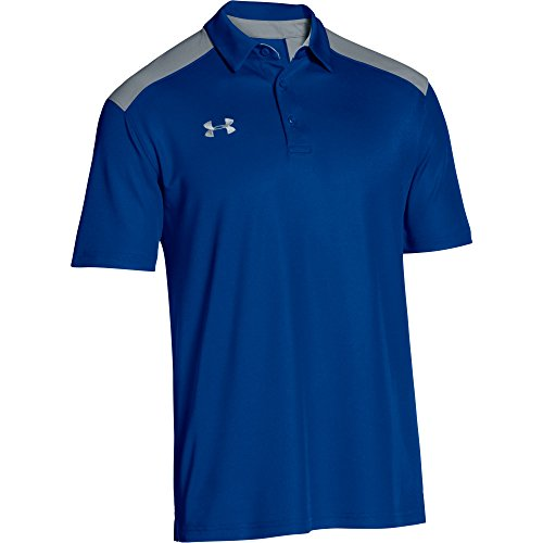 South Island Shirt - Under Armour Men's Team Armour Colorblock Polo (Medium, Royal/Steel)