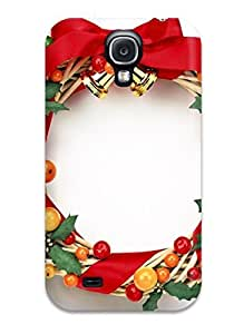 Galaxy S4 Hard Back With Bumper Silicone Gel Tpu Case Cover Holiday Christmas