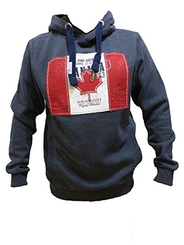 CAMP DAVID SWEAT SHIRT WITH HOOD MEDIUM GREY MELANGE FLAG FLASH CCD-1709-3980 L XXL