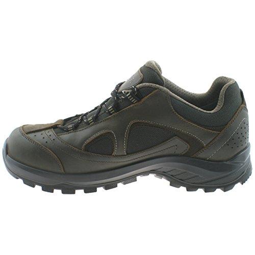 MENS HI-TEC WALK LITE CAMINO WATERPROOF BROWN LEATHER MESH WALKING SHOES -UK 10 (EU 44)