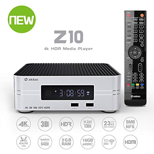 Zidoo Android TV Box Z10 4K Smart TV Box Android 7.1 NAS 2G DDR 16G eMMC Television Set Top Box 10Bit Android Top Box UHD Tv Box ()