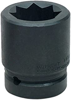 product image for Wright Tool 8808 1-Inch with 1-Inch Drive 8 Point Double Square Impact Railroad Sockets