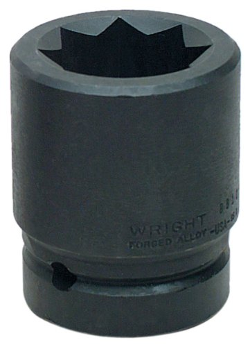 Wright Tool 8808 1-Inch with 1-Inch Drive 8 Point Double Square Impact Railroad Sockets