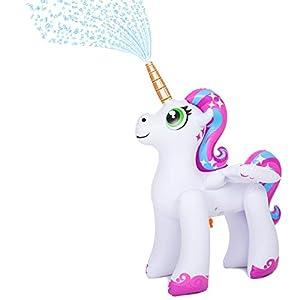 JOYIN Inflatable Unicorn Yard Sprinkler, Alicorn/ Pegasus Lawn Sprinkler for Kids
