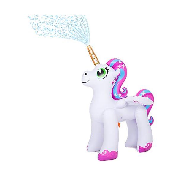 JOYIN Inflatable Unicorn Yard Sprinkler, Alicorn/ Pegasus Lawn Sprinkler for Kids 3