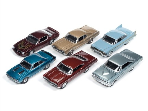 Autoworld Muscle Cars Release 5D Premium Licensed Set Of 6 Cars Limited Edition to 1836pcs 1/64 by Autoworld 64042 D 1958 Ford Galaxie