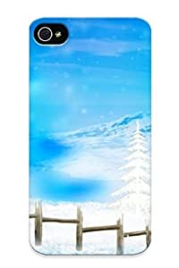 B85651b1114 Tpu Phone Case With Fashionable Look For Iphone 4/4s - Happy Holidays Case For Christmas Day's Gift