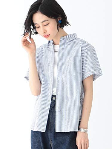 (빔스 보이)BEAMS BOY/반소매 셔츠/《시아삿카》 스트라이프 B.D셔츠 레이디스