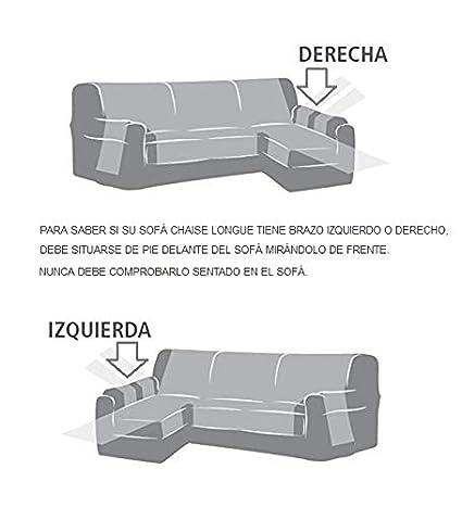 Funda Cubre Chaise Longue Modelo Darsena, Color Lila, Medida Brazo Derecho – 240cm (Mirándolo de Frente)