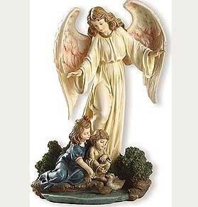- Guardian Angel with Children Renaissance Collection Figure - 8.5' (4076-8)