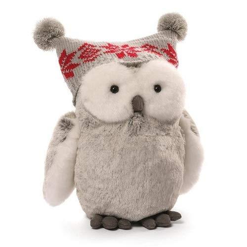 GUND Christmas Twinkles Snow Owl Plush, 9