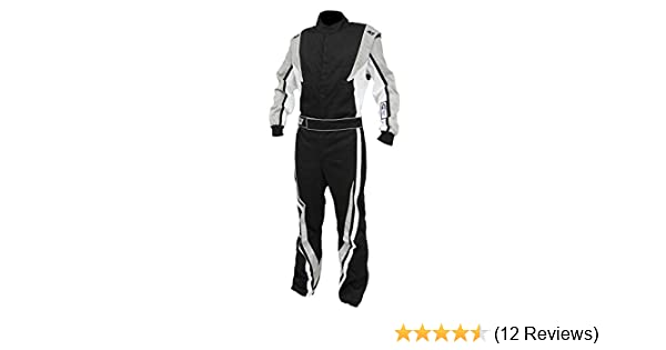 K1 Race Gear 20-TRI-NW-4XS Black//White XXXX-Small Single Layer Triumph PROBAN Cotton SFI Rated Fire Suit