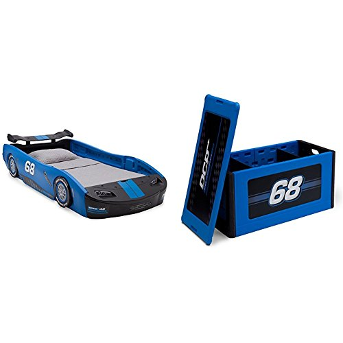 Delta Children Turbo Race Car Twin Bed with Turbo Toy Box...