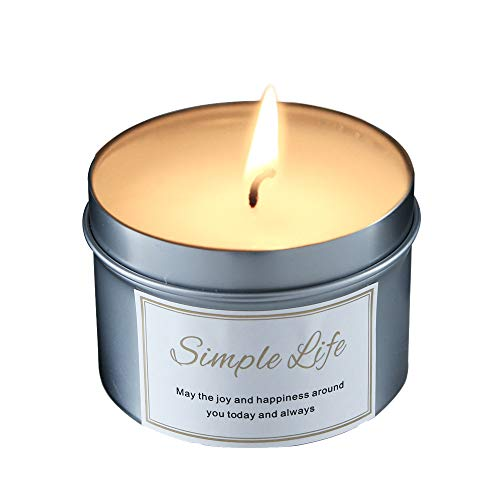 - Scented Aromatherapy Fragrance Candles Jar Natural Soy Wax Environmental Relaxation Home Decor Decoration Gift 4.6 ounce (Vanilla)