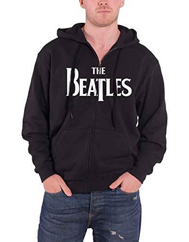 Beatles Men's Drop T Zippered Hooded Sweatshirt Large Black (John Lennon Military Jacket)