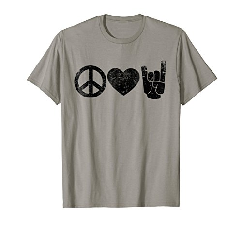 Peace Love Rock and Roll T-Shirt (Rock Hippie)