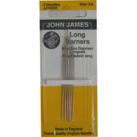 Colonial Needle 6 Count John James Long Darners Assorted Needles, Size 3/9 ()