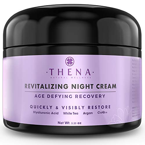 Organic Night Cream Anti Aging Wrinkle Cream With Hyaluronic Acid Argan Oil, Natural Face Moisturizer & Under Eye Cream For Dark Circles, Rapid Repair Facial Lotion For Dry Sensitive Skin, Women & Men