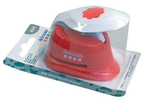 Artemio-2,5 cm, Eva-Punzonatrice a leva, per carta, colore: rosso 10003061