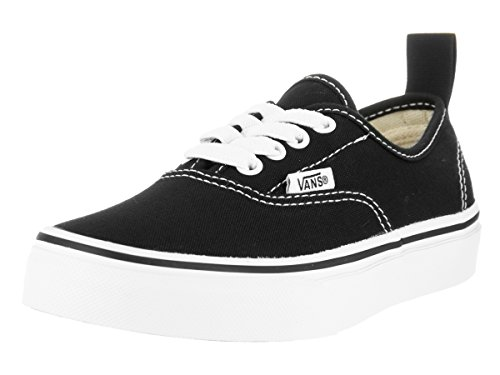 8c07f5c3d2 Galleon - Vans Kids Authentic Elastic (Elastic Lace) Skate Shoe Black True  White 3