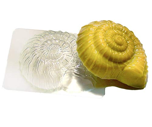 1pc Seashell Ammonite Snail Marine Sea Shell Beach Plastic Soap Making Mold Gift for Her for Him Mould 83x71x29mm ()