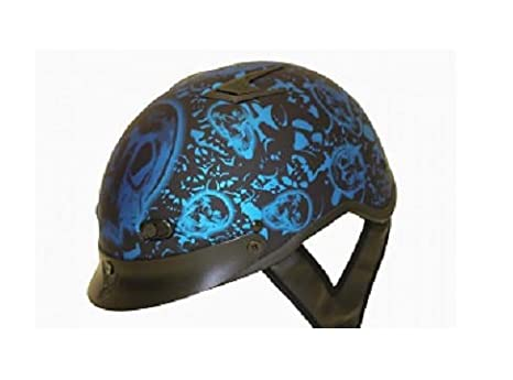 Amazon.com: Dot Vented Azul Mate Boneyard Casco de ...