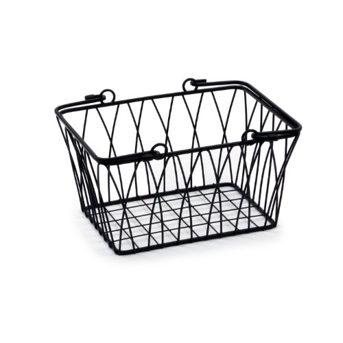 Spectrum Diversified Twist Storage Basket, Small, Black