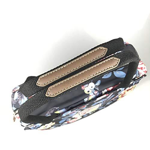 Cath Kidston Matt Oilcloth Busy Bag Handbag Water Resistant Crossbody Tote Garden Rose Charcoal