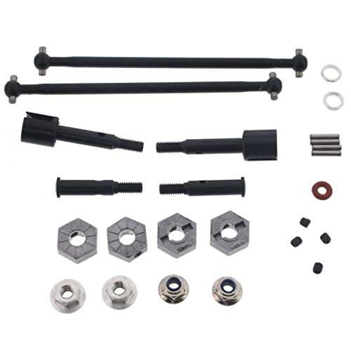 HPI 1/10 Blitz Flux DRIVE SHAFTS, AXLES, 12mm HEX WHEEL HUBS, PINS & LOCK NUTS (Shaft Hpi)