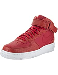 NIKE Air Force 1 Mid 07 LV8 Mens Shoes Gym Red/White 804609-601