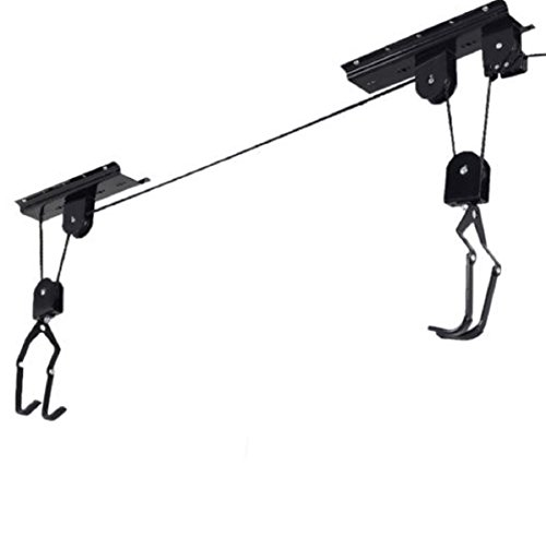 Exit Tray Extension (New Bike Bicycle Lift Ceiling Mounted Hoist Storage Garage Organization Hanger Pulley Rack)