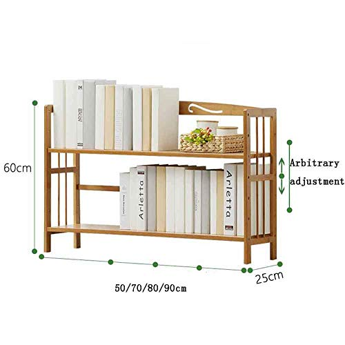 DEED Children's Bookshelf Space Saving Bookcases Simple, Rack Modern Table Multi-Level Floor Children's Bookshelf Student Home Office Living Room Furniture Combination Storage Rack,605025cm