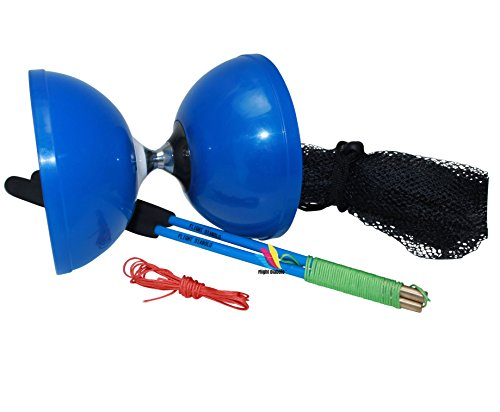 Flight Pro Triple Blue Chinese Yoyo Diabolo Toy