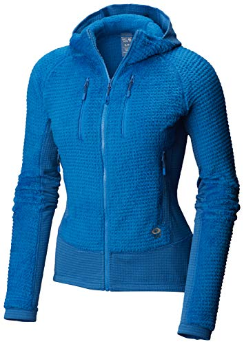 Mountain Hardwear 1792951 Women's Monkey Woman Grid Hooded Jacket, Prism Blue - XL (Mountain Hardwear Monkey Woman Jacket)