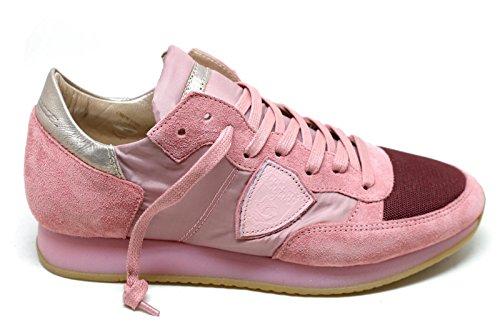 Sneakers Camoscio Donna Rosa Trldsr02 Model Philippe AHaqff