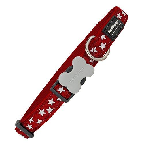 Red Dingo Collier  motifs pour chien Rouge/blanc Taille M 20mm x 31-47cm