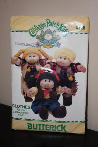Cabbage Patch Kids Cowboy Cowgirl Western Outfit Pattern Set by Butterick 6826 ()