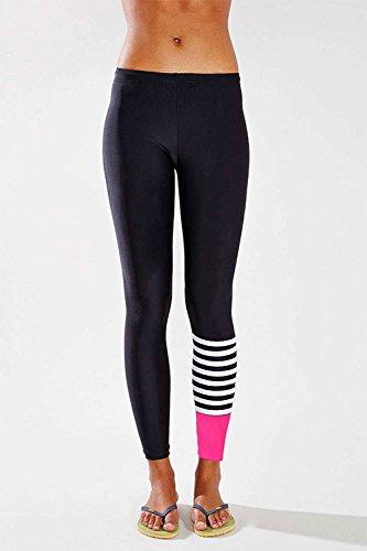 wlgreatsp Donne YOGA Sport che fanno funzionare Danza Slim Fit Footless ritagliata Leggings A vita alta Allungare Pantal