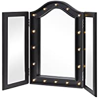 Deals on Best Choice Products Lighted Tabletop Tri-Fold Vanity Mirror
