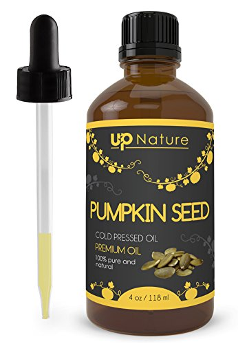Pumpkin Seed Oil - Antioxidant-Rich - High in Vitamins A and E - Pure, Unrefined, Non-GMO - Cold Pressed - Great For Your Heart, Memory, Hair Growth, Sleep - With Dropper (4 oz.) by UpNature