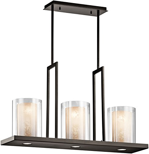 Kichler 42547OZ, Triad Glass 1 Tier Chandelier Lighting, 6 Light, Olde Bronze -