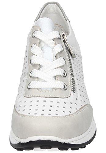 Basses Sneakers ice N0025 reinweiss Femme Rieker Blanc 80 silber x4wEAOAq